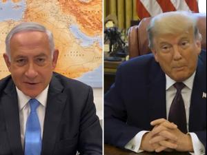 """טראמפ: """"שתי הידידות שלנו ישראל ובחריין הסכימו לחתום על הסכם שלום"""" 11.09.20"""