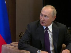 פגישתם של נשיא רוסיה, פוטין ועמיתו הבלארוסי, לוקשנקו בסוצ'י 14.09.20