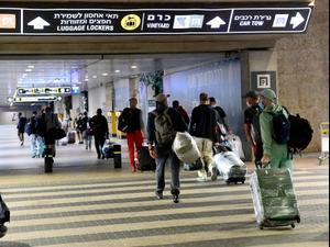 נוסעים בנמל התעופה בן גוריון לקראת ראש השנה, 17 בספטמבר 2020