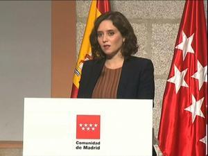 נשיאת מחוז מדריד בספרד מכריזה על הגבלות תנועה בעקבות המשך העלייה בתחלואה בקורונה, 18 בספטמבר 2020
