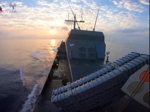"""חיל הים ומשרד הביטחון ביצעו בהצלחה ניסוי במערכת טילי ים-ים 25.09.2020. דובר צה""""ל"""