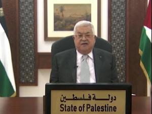 """אבו מאזן באו""""ם: """"לא תהיה יציבות באזור בלי מדינת פלסטינית"""" 25.09.20"""