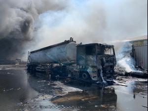 שריפה במפעל שמן בעכו - 27 לספטמבר 2020