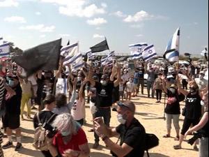 """לפני הדיון בבג""""ץ בפרשת הצוללות: שיירת מחאה מקריית שמונה לירושלים 14.10.20"""