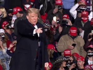 הנשיא טראמפ בעצרת בחירות בפנסילבניה 21.10.20