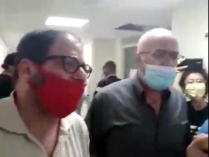 """ח""""כ שביקר עציר מנהלי השובת רעב תקף פעיל ימין בבית החולים 25.10.20"""