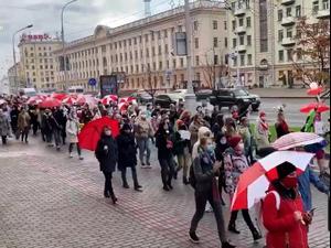 בלארוס: שבוע 11 של הפגנות במחאה על תוצאות הבחירות 25.10.20