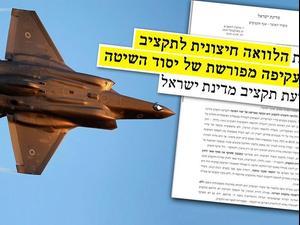 מכתבו של ממלא מקום ראש אגף התקציבים במשרד האוצר ברקע F-35