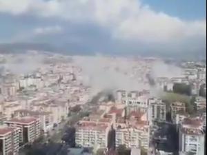 רעידת אדמה בעוצמה 7 הורגשה לחופי יוון, מבנים בטורקיה קרסו  30.10.20