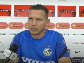ברק בכר מאמן מכבי חיפה. צילום מסך, צילום מסך