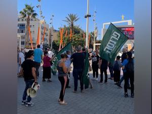 עשרות עצמאים מפגינים בדרישה לפתוח את חנויות הרחוב ולסייע לבעלי עסקים  3.11.20