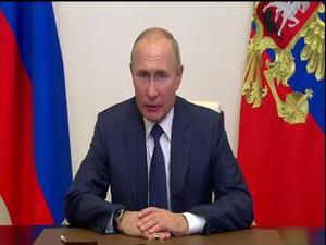 """פוטין: """"מנהיגי ארמניה ואזרבייג'ן הסכימו על הפסקת אש בנגורנו קרבאך"""" 10.11.20"""