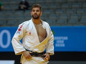 פיטר פלצ'יק ג'ודוקא ישראלי לאחר הזכייה באליפות אירופה. באדיבות איגוד הג'ודו האירופי, אתר רשמי