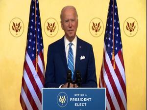 """ביידן: הקורונה הרסה את ארה""""ב, והביאה אובדן וכאב 26.11.20"""