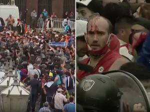 מהומות בטקס האשכבה של דייגו מראדונה
