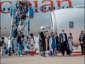 """טקס קבלת פנים למאות עולים ראשונים מאתיופיה שמגיעים ארצה במסגרת מבצע עלייה """"צור ישראל"""" מאתיופיה., 3 בדצמבר 2020"""
