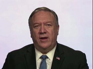 """שר החוץ האמריקני פומפאו: """"איראן נואשת לחזור לשולחן המו""""מ"""" 04.12.20"""