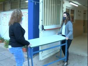 אחרי 3 חודשים: תלמידי חטיבת הביניים חוזרים לבית הספר 06.12.20. ניב אהרונסון