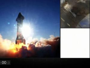 דגם ספינת החלל של SpaceX התפוצץ בנחיתה במהלך ניסוי; 10 בדצמבר 2020. רויטרס