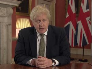 בגלל התפשטות מוטציית הקורונה: ג'ונסון הודיע כי בריטניה נכנסת לסגר 04.01.21. רויטרס