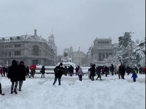 סופת שלגים שלא נראה עשרות שנים במדריד, ספרד 10.1.21. רויטרס