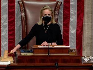 """הדמוקרטים חשפו את סעיף ההדחה נגד טראמפ: """"הסית להתקוממות"""" 11.01.21. רויטרס"""