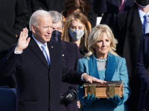 במתכונת מצומצמת ובלי טראמפ: ביידן הושבע לנשיא ה-46 של ארצות הברית 20.1.21. רויטרס