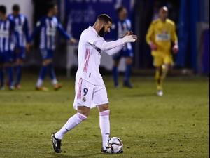 תקציר: אלקויאנו - ריאל מדריד 1:2. Jose Breton, AP