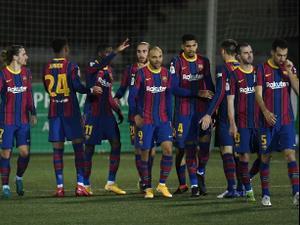 תקציר: קורנייה - ברצלונה 2:0. Alex Caparros, GettyImages