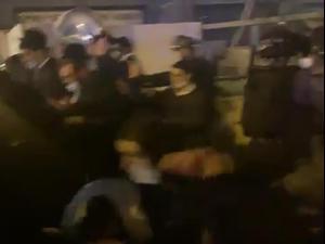 אחרי תקיפת השוטרים: עימותים אלימים בבני ברק 22.01.21. דוברות משטרת ישראל