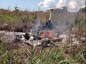 המטוס של קבוצת פלמאס התרסק, ברזיל. מתוך שידורי הטלוויזיה הברזילאית, צילום מסך