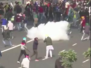 גז מדמיע וטרקטורים: עימותים בהפגנת חקלאים נגד רפורמות חקלאיות בהודו 26.1.21. רויטרס