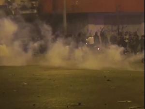 לבנון: עימותים בין מפגינים לכוחות משטרה בהפגנות נגד הסגר  28.1.21. רויטרס