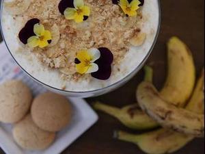 פודינג בננה, מבשלים עם חננאל. רותם ברק,