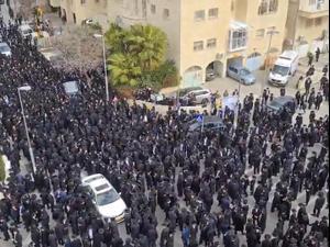 אלפים משתתפים בהלווייתו של ראש ישיבת בריסק בירושלים 31.1.21. רפי רודניק, אתר רשמי