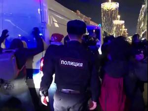 רוסיה: כ-1,400 עצורים במהומות שפרצו אחרי גזר הדין לנבלני 3.2.21. רויטרס