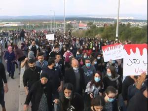"""אלפים מחו בטמרה בעקבות הרג הסטודנט: """"אם היה יהודי כל המדינה הייתה עוצרת"""" 6.2.21. שלומי גבאי, שלומי גבאי"""