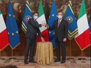איטליה: הכלכלן מריו דראגי מונה לתפקיד ראש הממשלה  13.02.21. רויטרס