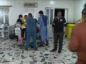 עיראק: הרוג ופצועים, בהם חייל אמריקני, ממטח רקטות על בירת החבל הכורדי 16.02.21. רויטרס