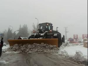 שלג בצפת: הכניסות לעיר נחסמו, חל איסור לנסוע בכבישים, 150 איש חולצו  17.2.21. עיריית צפת, תמונות גולשים