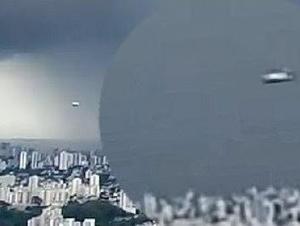 מה הופיע בשמיים באמצע השידור החי?. BRAZIL URGENTE, צילום מסך