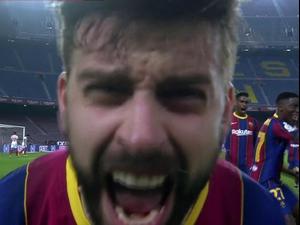 תקציר: ברצלונה - סביליה 0:3 בגביע המלך, ג'רארד פיקה חוגג את השער הדרמטי. ספורט 2