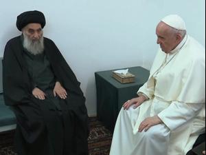 האפיפיור נפגש עם מנהיג השיעים בעיראק 06.03.21. רויטרס