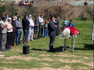 הובאה למנוחות שורוק ג'ורבאן שמתה מקורונה לאחר שילדה את בתה 16.3.21. יואב איתיאל