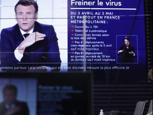 """מקרון הכריז על סגר בצרפת: """"על סף איבוד שליטה"""", 31 במרץ 2021. רויטרס"""