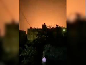 """דיווחים בסוריה: ישראל תקפה מטרות באזור דמשק, טיל נ""""מ התפוצץ בגבול לבנון  08.04.21. טוויטר, אתר רשמי"""