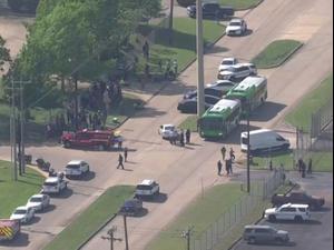 זירת הירי ההמוני בבריאן שבטקסס. רויטרס