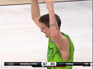 תקציר: אנאדולו אפס - טופאש בורסה 85:87. ספורט 1, צילום מסך