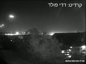 שלוש רקטות שוגרו מרצועת עזה לשטח ישראל, שתיים מהן יורטו 26.04.21. דדי פולד, אתר רשמי