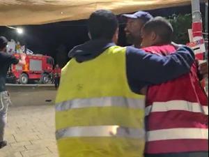 """אלימות בקבר הרשב""""י: מבקרים תקפו פועל ניקיון ערבי 01.05.21. שלומי גבאי"""